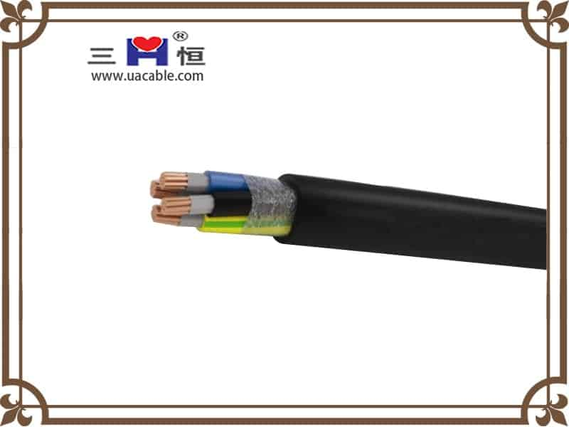 Four core round pvc cable