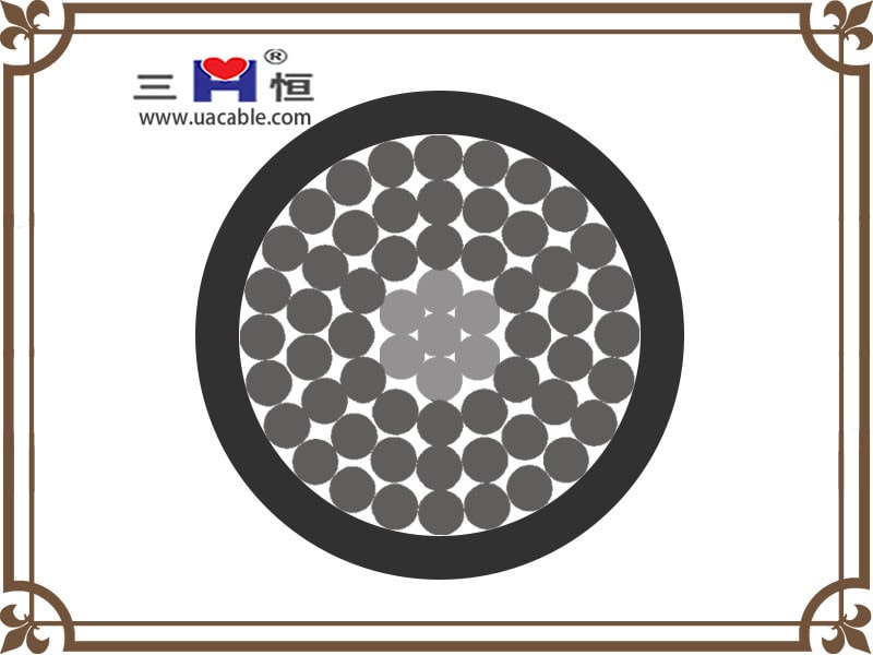 Black insulated aac cable structure