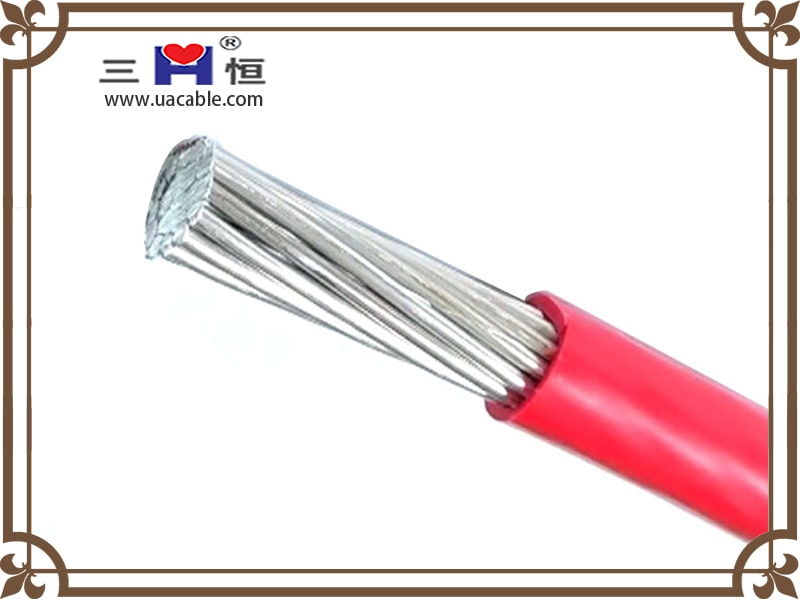 Red aluminum PVC insulated cable