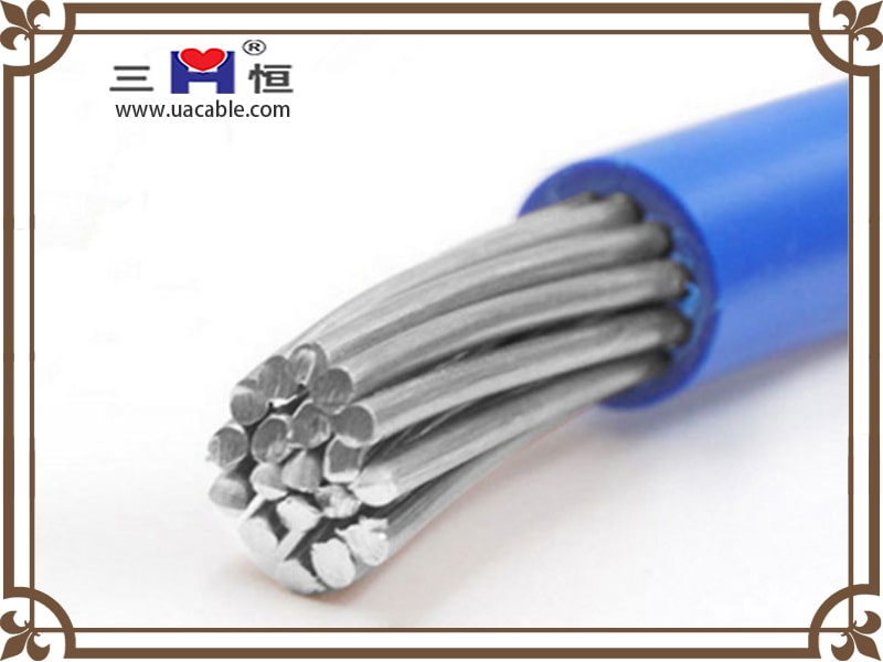 Blue aluminum PVC insulated cable