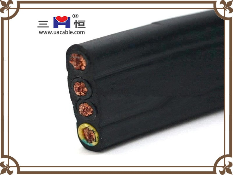 Black flat elevator cable