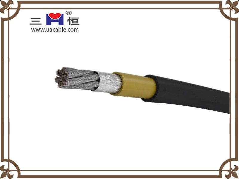 Aluminum core black sheathed welding cable