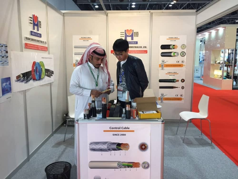 Exhibition-Arab customer