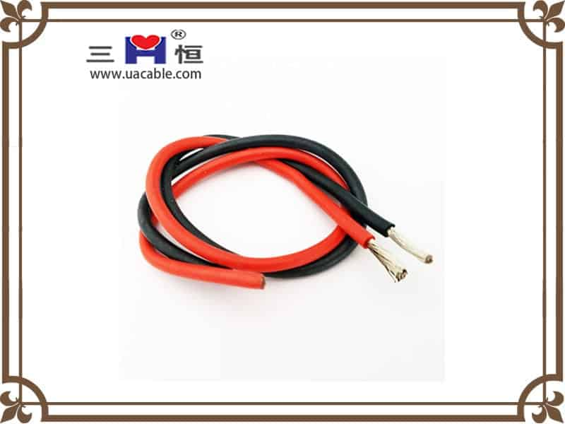Red and black silicone wire
