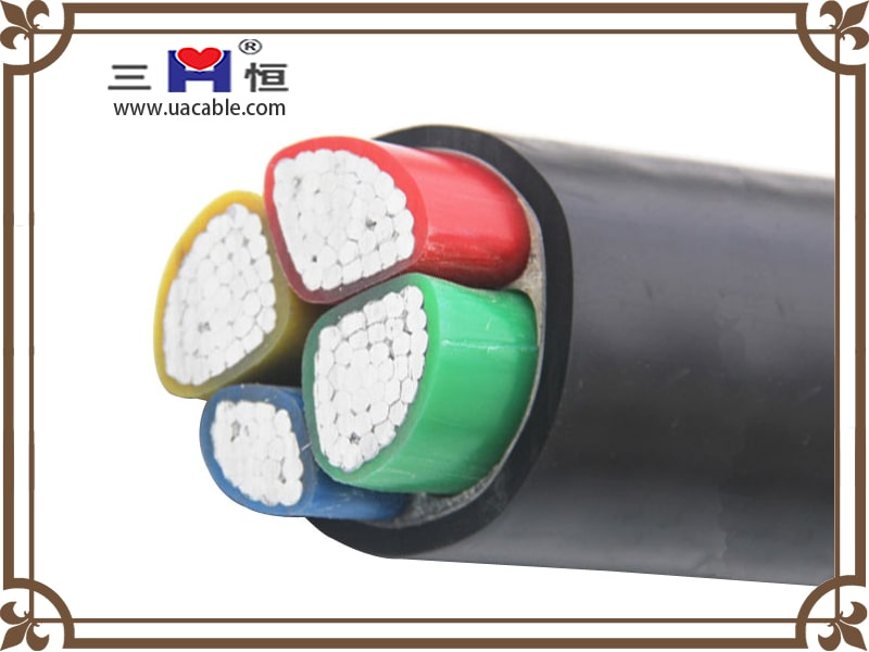 Aluminum conductor four core power cable